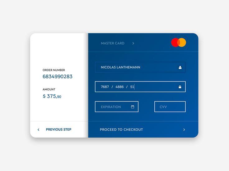 Daily UI - Credit Card Checkout by Nicolas Lanthemann