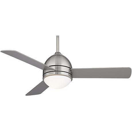 "44"" Casa Vieja® Trifecta Brushed Nickel Ceiling Fan"