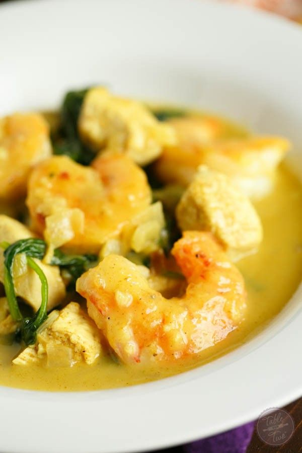 Garlic coconut curry shrimp and chicken bowl recipe for J j fish chicken milwaukee wi