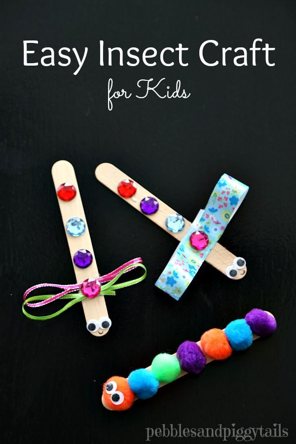 Dragonfly and Caterpillar Craft for kids or preschool.  Uses easy craft items and so cute!