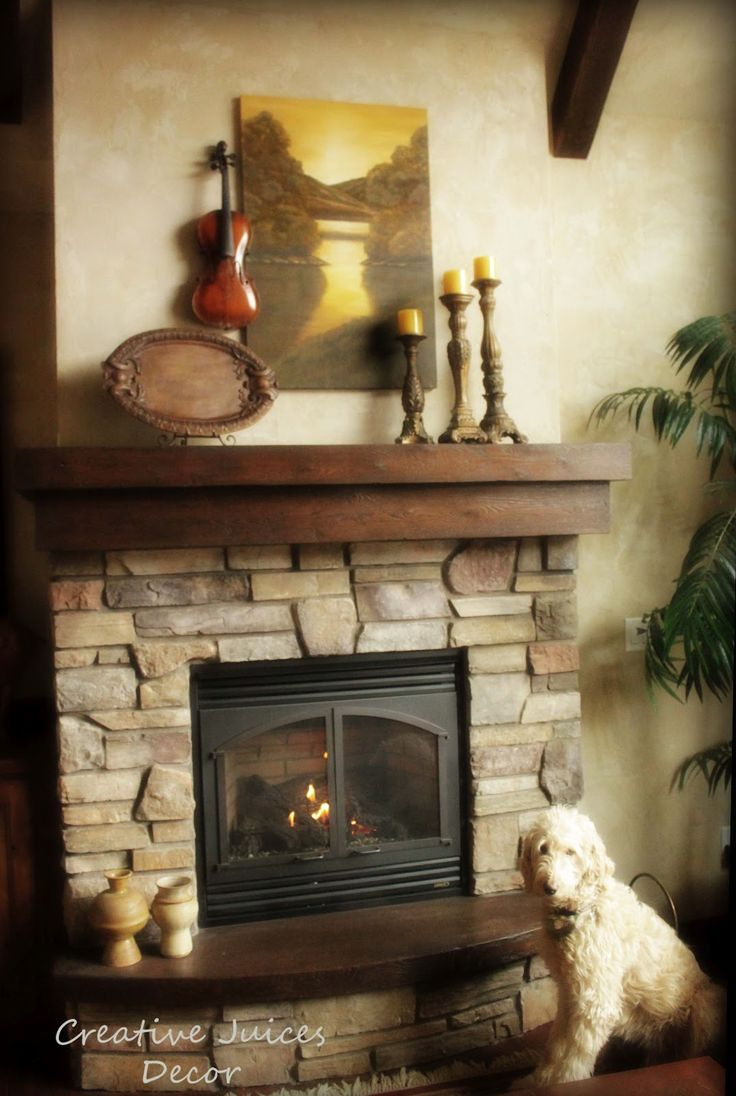 Wall Colour Inspiration: Wood Fireplace Mantels Tuscan Rustic