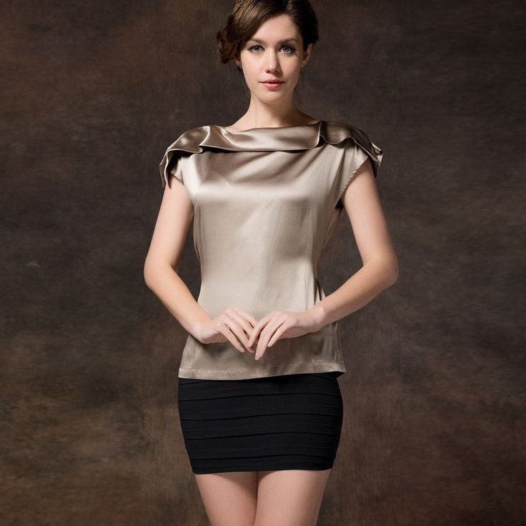 17 best ideas about Satin Blouses on Pinterest | Satin, Silk skirt ...