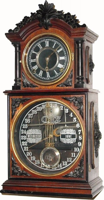 For the gadget-lover, there are an endless variety of clever clocks. Here is an example of an Ithaca Calendar Clock which tells the time, shows the day of the week, month, and day of the month. Many of these will account for leap years on their own!