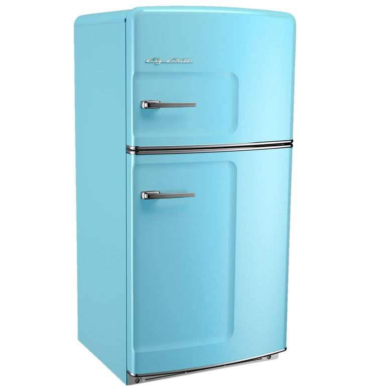 Rejuvenation Original Refrigerator with Ice Maker - Left- Opening, Blue
