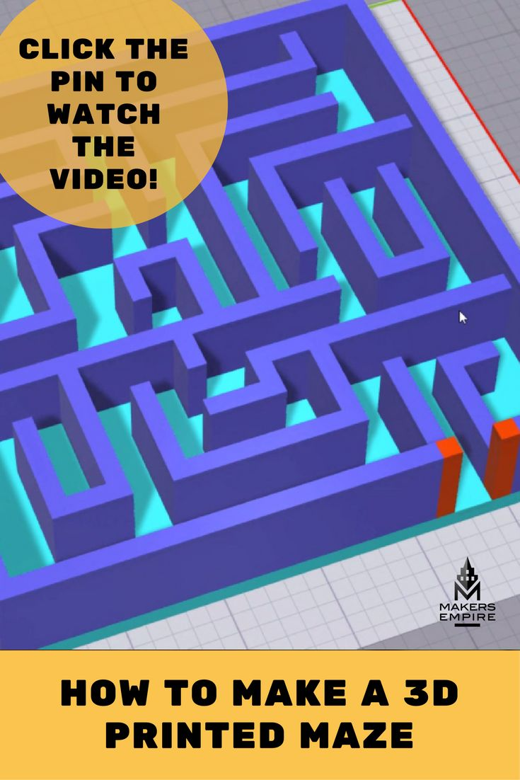 Learn how to create a 3D printed maze with Makers Empire 3D with this step by step video guide. Makers Empire helps K-8 schools harness the power of 3D printing to teach important STEM concepts, 21st century learning skills and design thinking in a fun and engaging way. Our 3D Printing Learning Program for K-8 schools provides you with everything you need to successfully implement 3D printing in the classroom. www.makersempire.com
