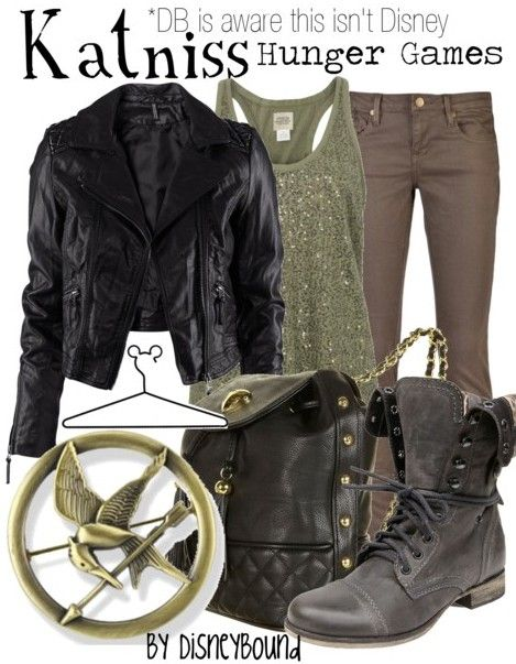 katniss outfit! Its actually kinda cute :) BUT the top should not be sparkly ech