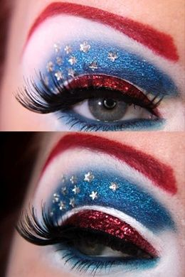 15 pinterest fashion ideas for independence day captain america makeupcaptain america costumehalloween - Eyeshadow For Halloween