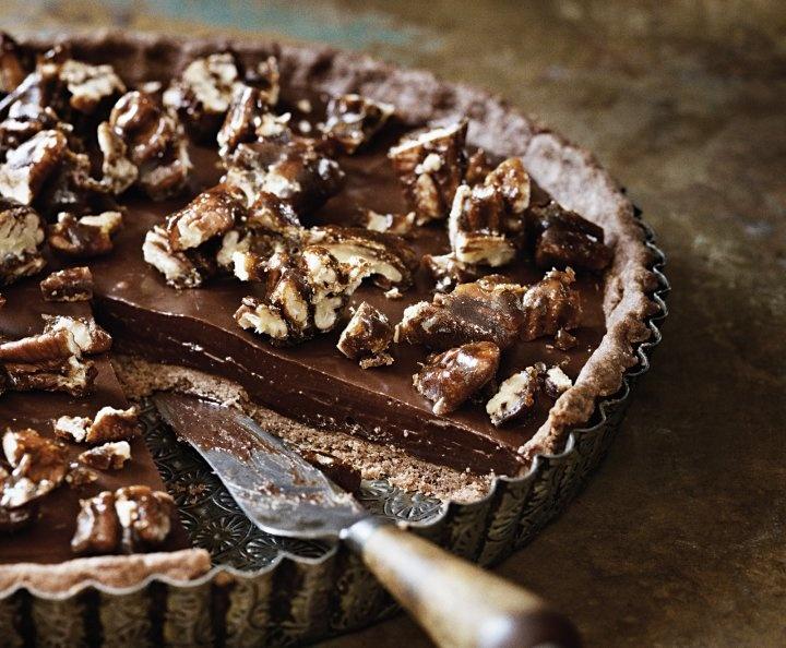 Sea-Salt Chocolate and Pecan Tart Recipe | Desserts | Pinterest