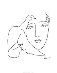 Picasso woman and bird