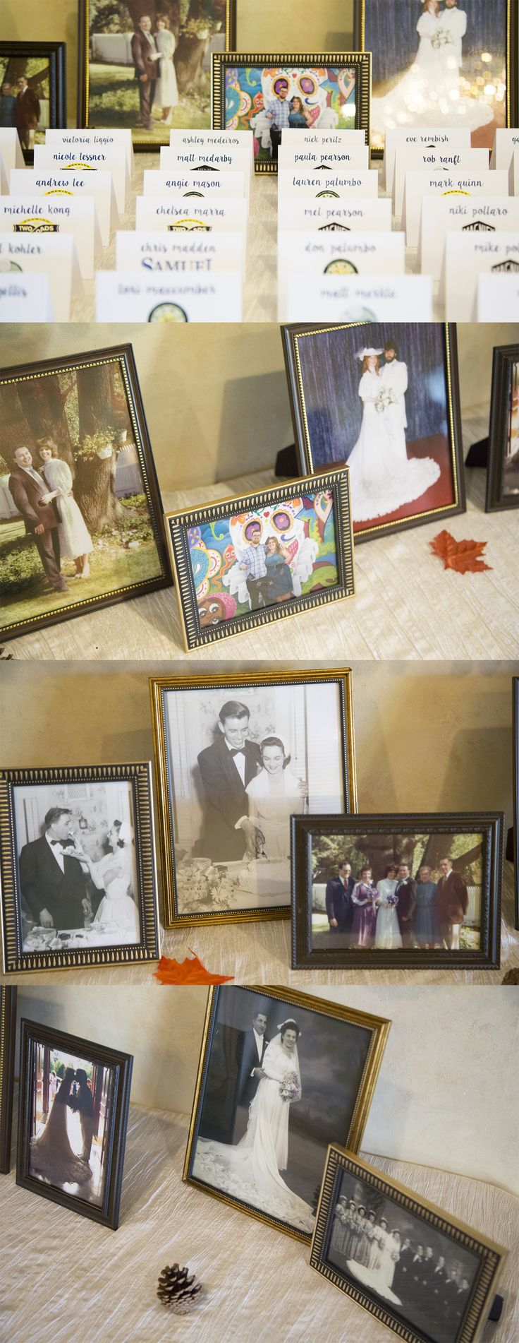 Wedding Seating Cards | Parents Grandparents Wedding Pictures | Memorial Table at Wedding