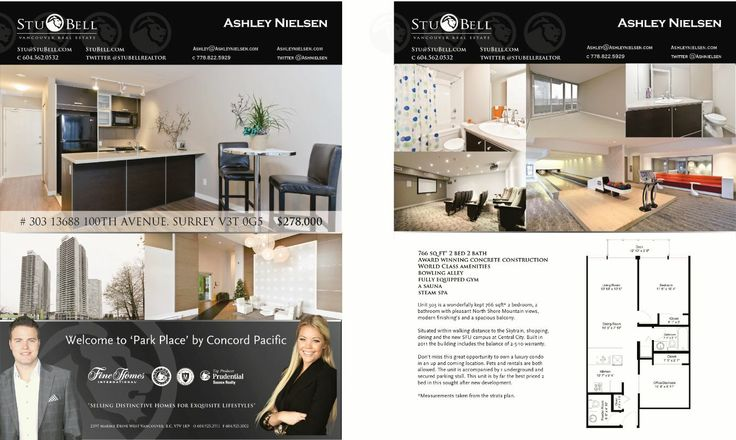 Ashley Nielsen and Stu Bell Real Estate Feature Sheets - Design Websdesign