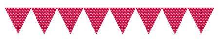 "Red Paper Flag Banner | 70"""""