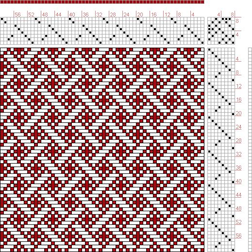 Hand Weaving Draft: Figure 589, A Handbook of Weaves by G. H. Oelsner, 8S, 8T - Handweaving.net Hand Weaving and Draft Archive