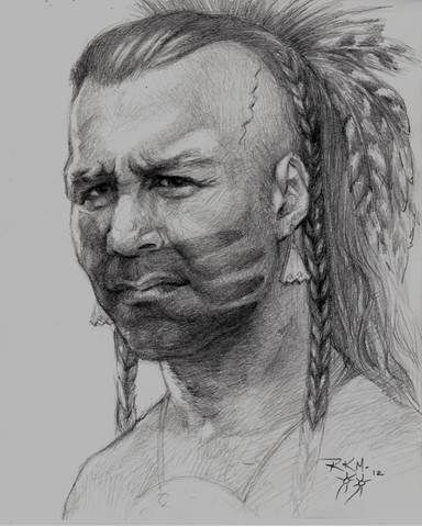 Kakwirakeron has always remained true to his love for the Mohawk people throughout his art career and has  illustrated books of legends, traditional Mohawk teachings, language, history and sports.  Thought it looked the part of a Space Wolf