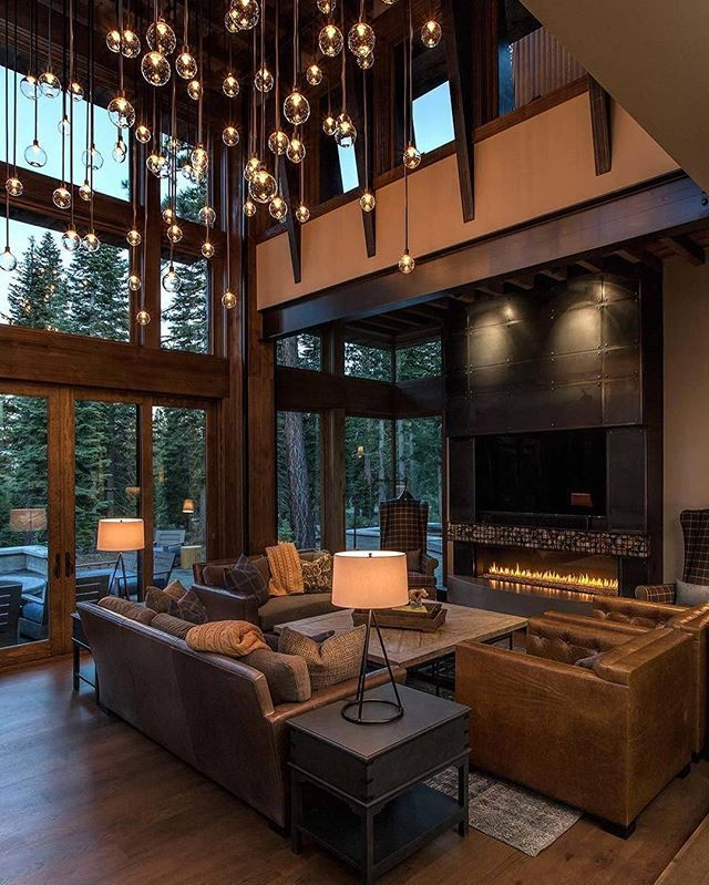 Studio v interior design this rustic modern home is for Lake tahoe architecture firms