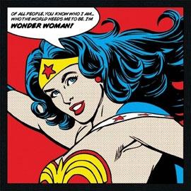 Toile sur châssis Wonder Woman 33 x 33 cm  9,99€