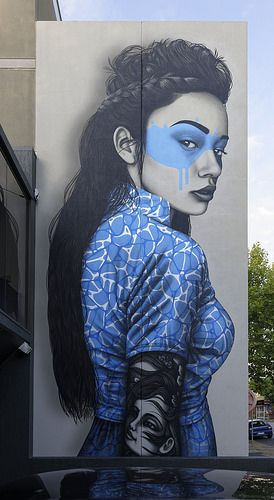 Amazing street art portrait painting by Findac. #ArtLove #AmazingArt