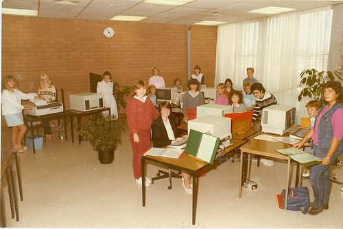 Computer Studies Work 1985. 1980s computers. #tafe #education #geelong #learning