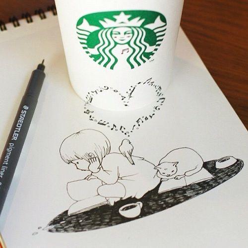 Starbucks-Coffee-Cup-doodles-tomoko-shintani-8