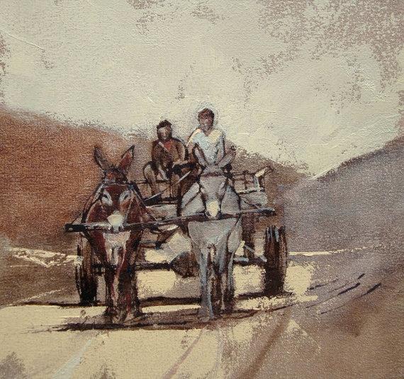 Donkey Cart  ART PRINT by AlidaBothmaArt on Etsy