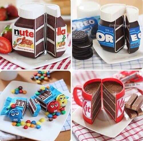 Un pastelito muy creativo