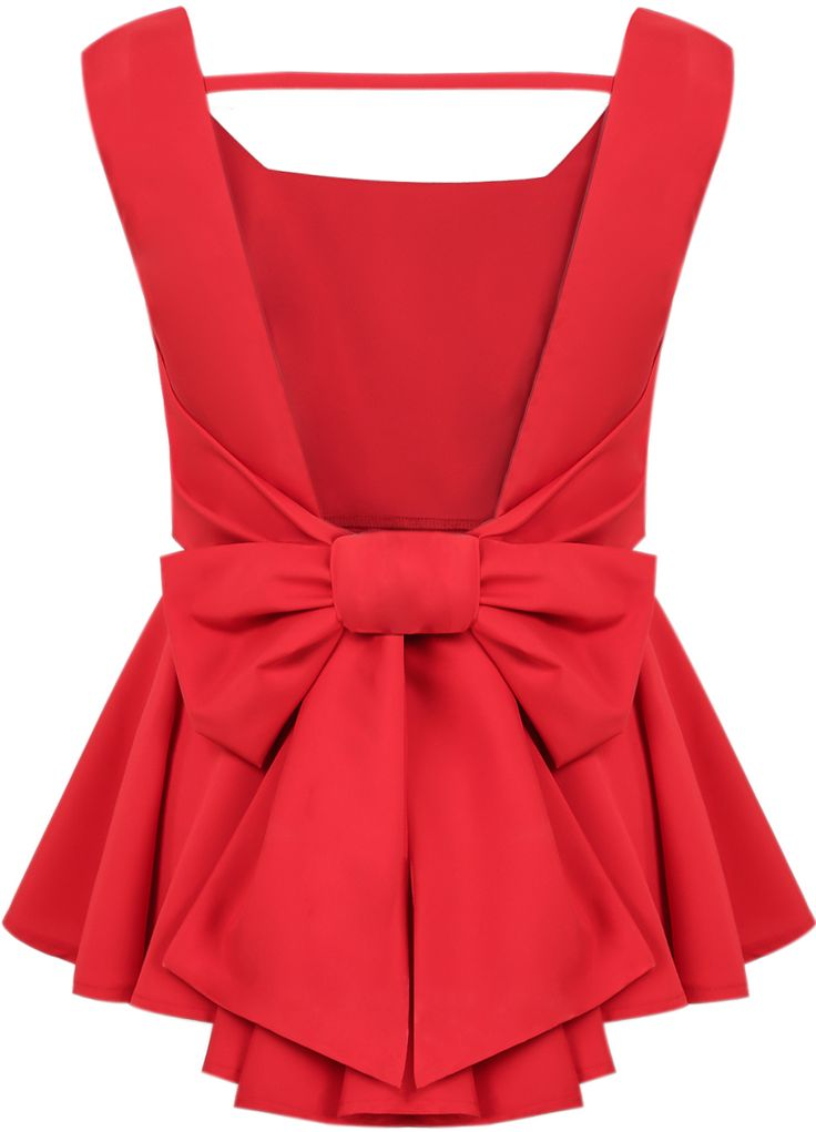 Bow peplum top