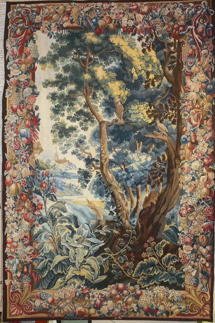 Вердюра.Речной пейзаж . Копия шпалеры 18 века. 170х250 см.