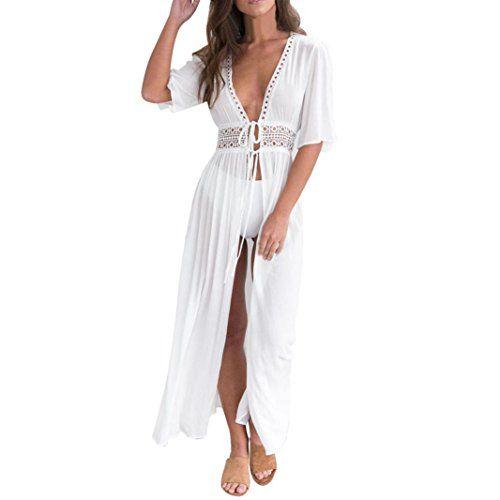 Damen Blumendruck Kimono Cardigan Loose Beach Badeanzug Cover Up Beachwear