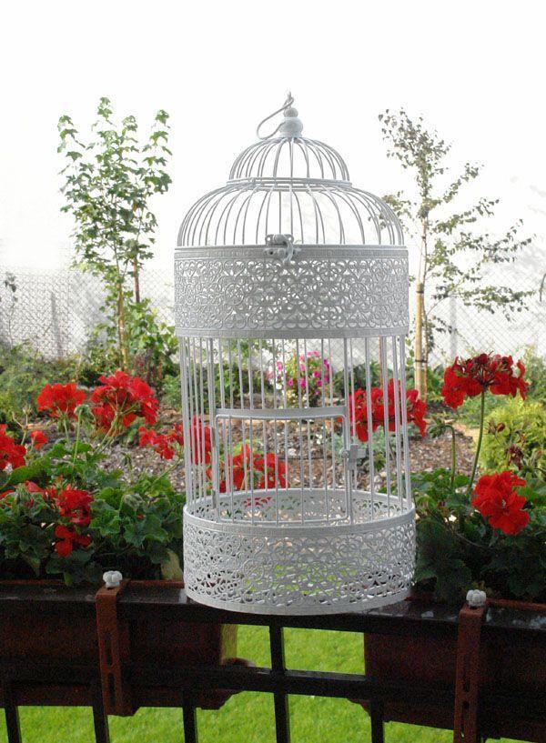 Przepiękna duża, bardzo dekoracyjna klatka / The picturesque Provencal style cage in Shabby Chic