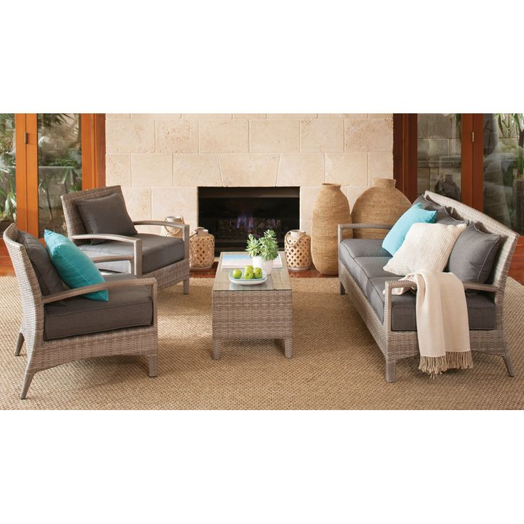 Shelta Antilles 4 piece Casual Wicker Setting - BBQ's and Outdoor
