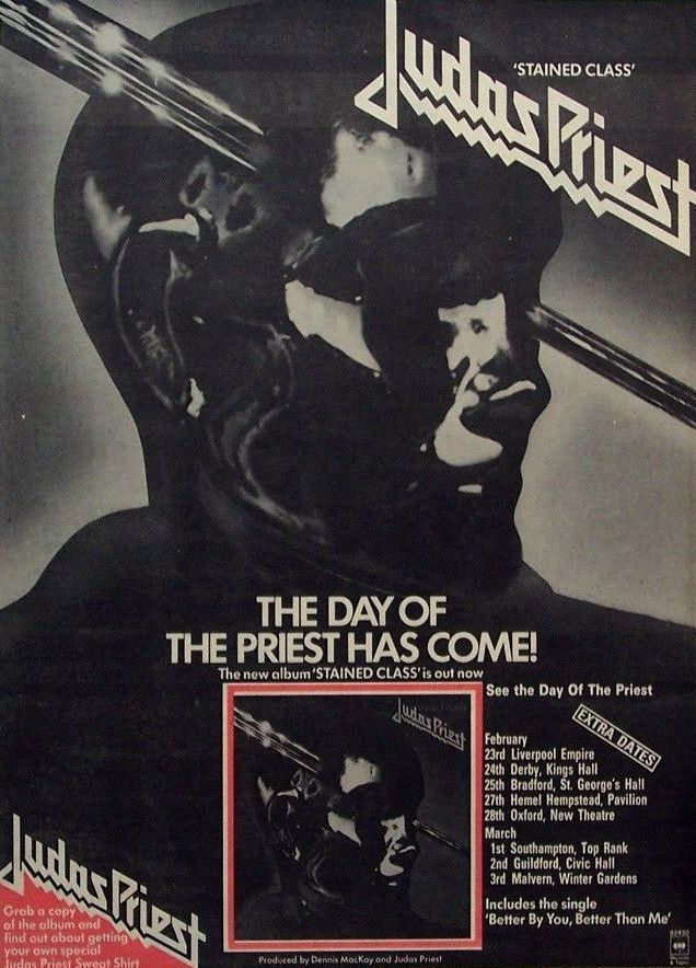 """mymindlostme: """" Judas Priest 1978 """"Stained Class"""" Advertise with Tour Dates """""""