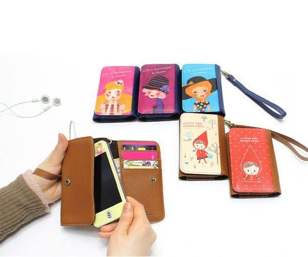 New Multi Wallet Name Card iPhone Case_Shinzi Katoh_ Smart Card Pocket Case, walking red riding hood