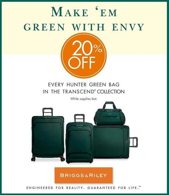 Mori Luggage and Gifts stores- Green with Envy sale