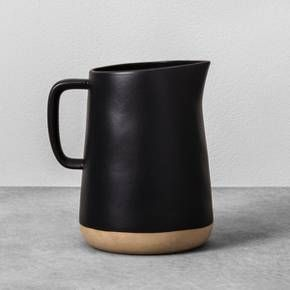 Black Stoneware Pitcher || Hearth & Hand™ with Magnolia