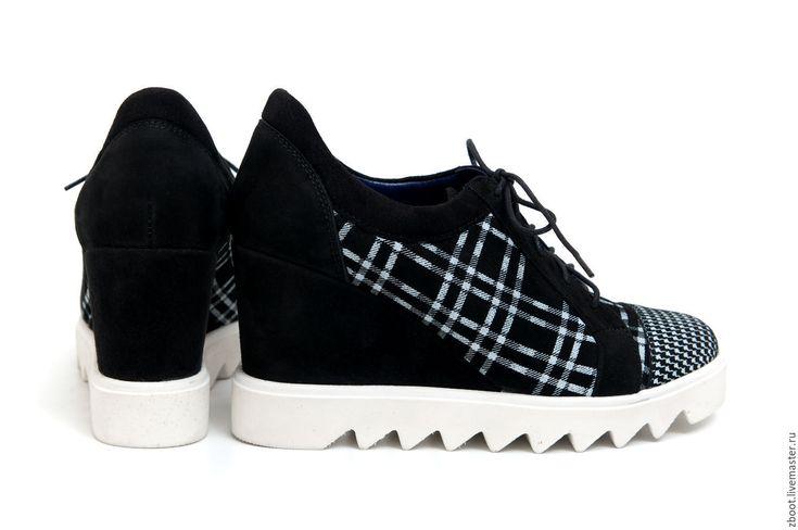 Купить Кроссовки на танкетке Bridge - чёрно-белый, женские кроссовки, обувь спортивная, кроссовки