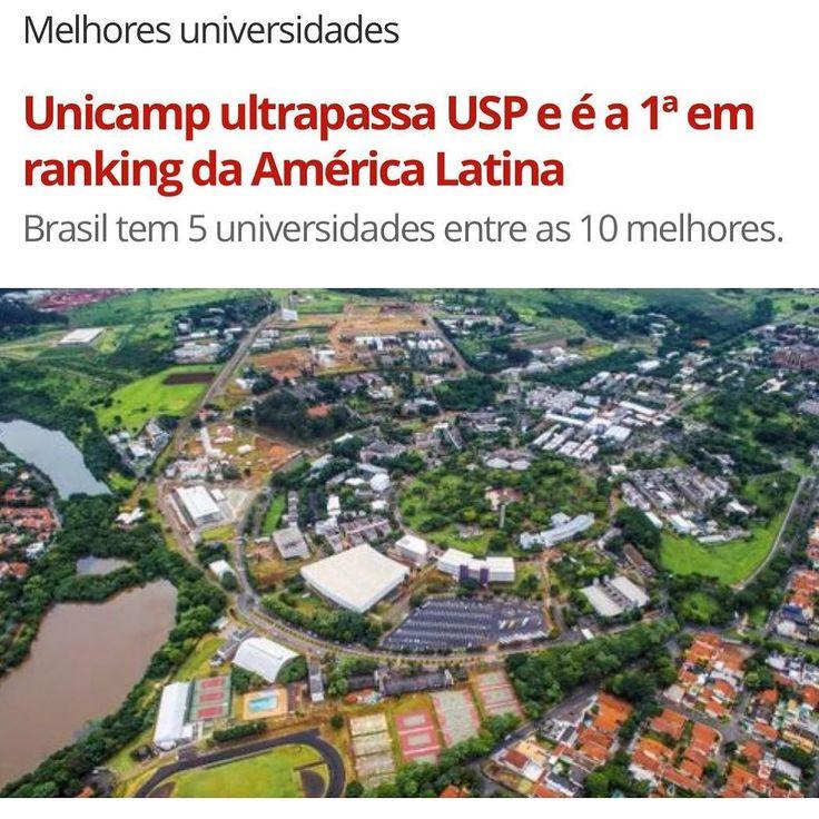 A #Unicamp é a nova primeira colocada no ranking das melhores universidades da América Latina realizado pela revista #TimesHigherEducation (THE). . Na edição de 2016 a #USP era a primeira colocada e a Unicamp ficou em segundo lugar. Veja as dez melhores universidades da América Latina: 1Universidade Estadual de Campinas (Unicamp)  Brasil 2Universidade de São Paulo (USP)  Brasil 3Pontifícia Universidade Católica do Chile  Chile 4Universidade do Chile  Chile 5Universidade dos Andes  Colômbia…