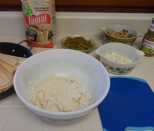 Healthy Tamale Recipe - Lower Fat Lower Carb Higher Protein than Traditional in my Vintage Pyrex