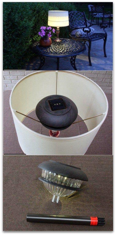 Outdoor table lamps!! Genius!!