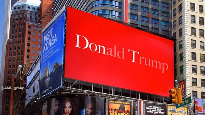 Here's the Real Story Behind This Simply Perfect Anti-Donald Trump Billboard   Adweek