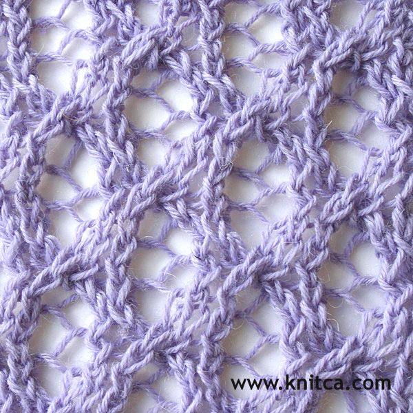 Lace 18.  A lovely lace pattern with a twist ... a simple cable here and there…