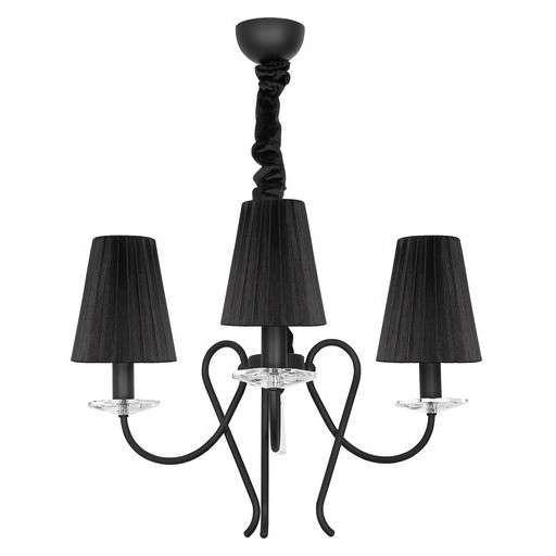 Czarny żyrandol z serii TROPEA może stać się ozdobą wybranego przez Ciebie pomieszczenia. #mlamp #oświetlenie #lampa #zwis #design #wystrój #wnętrz
