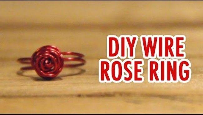 DIY Cincin Mawar dari Kawat