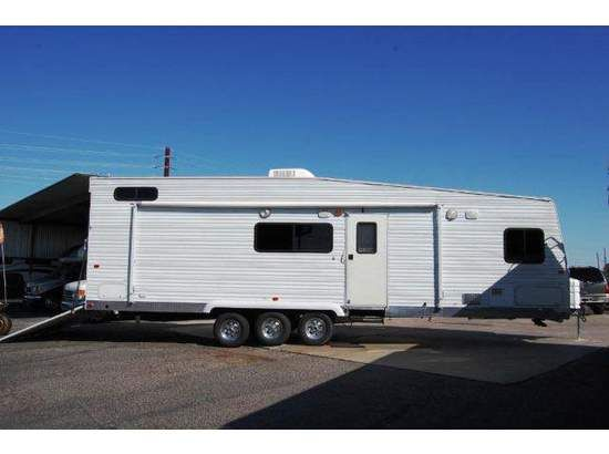 If you like auxiliary activity and you want to enjoy travelling or sightseeing in your spare time than you must own a #toy_hauler, here is 2005 Used Fleetwood Pioneer 310fs Toy hauler available for quite affordable rates by Sun City Rv in Peoria, AZ, USA. Know more about this product at: UsedRvsUSA.Com