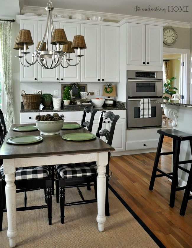 cottage farmhouse style vignette in the kitchen - Kitchen Table Cushions