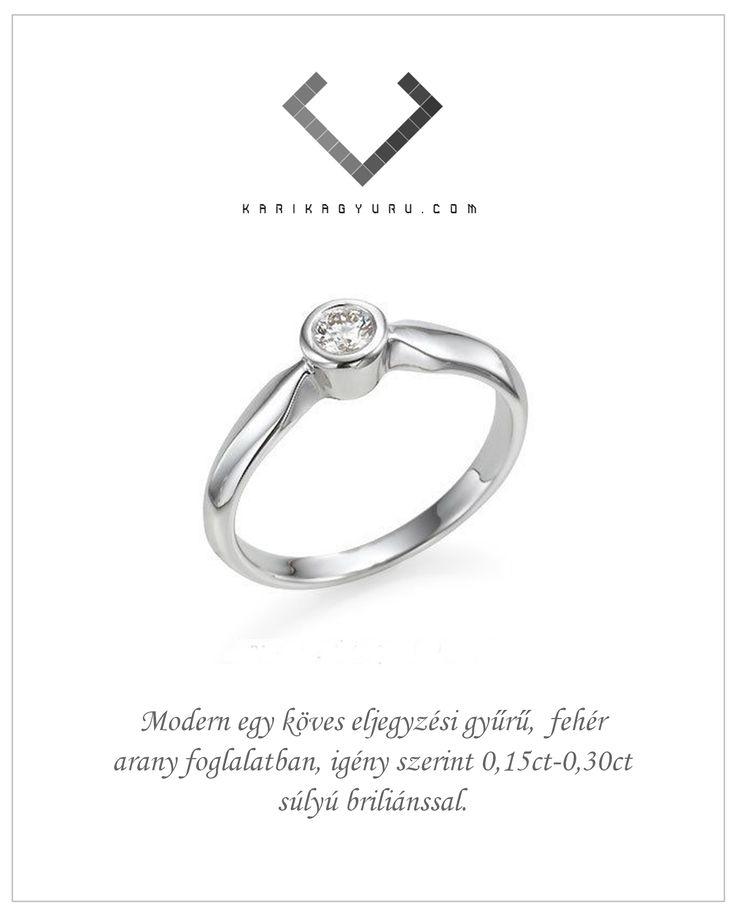 Eljegyzési gyűrű.