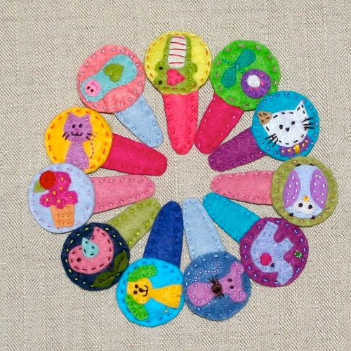 animals!: Felt Hairclip, Felt Clips, Girls Crafts, Felt Crafting, Baby Girl, Hair Bows, Felt Hair Clips, Animal Clips, Animal Hair