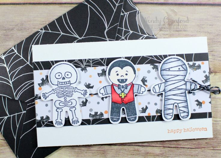 Cookie Cutter Halloween stamp set from the new 2016 Stampin' UP! Holiday…