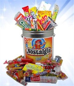 Take a trip back in time and enjoy some of your favorite nostalgic candy with our Nostalgic Candy Can. This gallon can includes 60 pieces of assorted retro candy, and is a great gift for every candy lover!