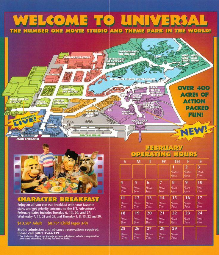 Universal Studios Florida brochure Universal Studio Theme Parks - studio brochure