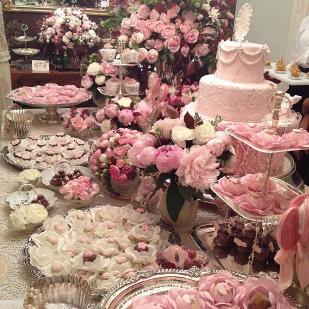 ROSA! Mesa linda de doces